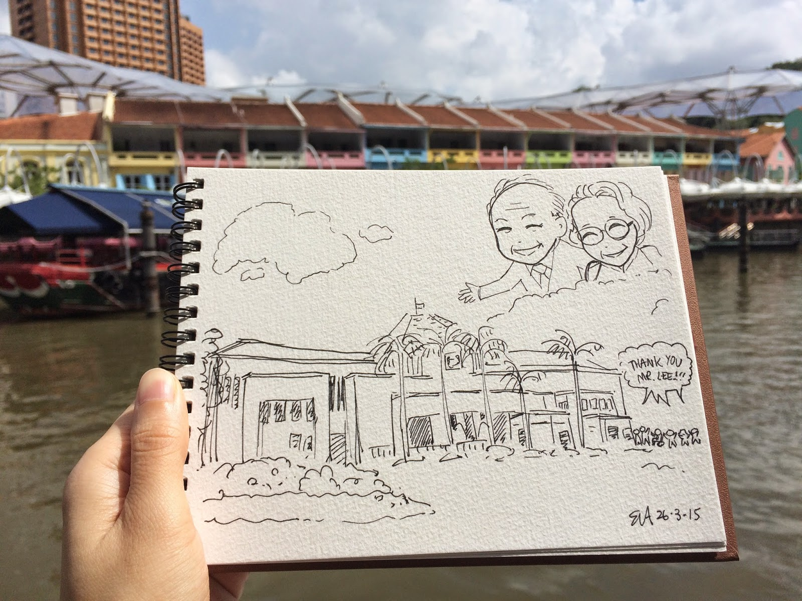 Tribute to Mr Lee Kuan Yew and his wife parliament house clarke quay