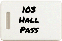 Hall Pass (and Restroom Pass) Form