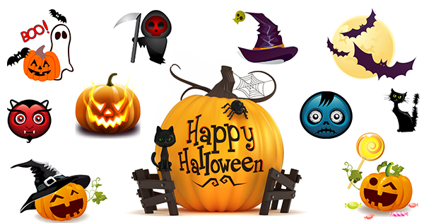 Halloween Emoticons - Facebook Symbols and Chat Emoticons