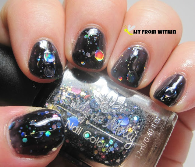 Dark Forces is a black jelly with rainbow holo glitters