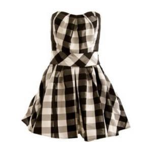 vestidos xadrez curtos e longos
