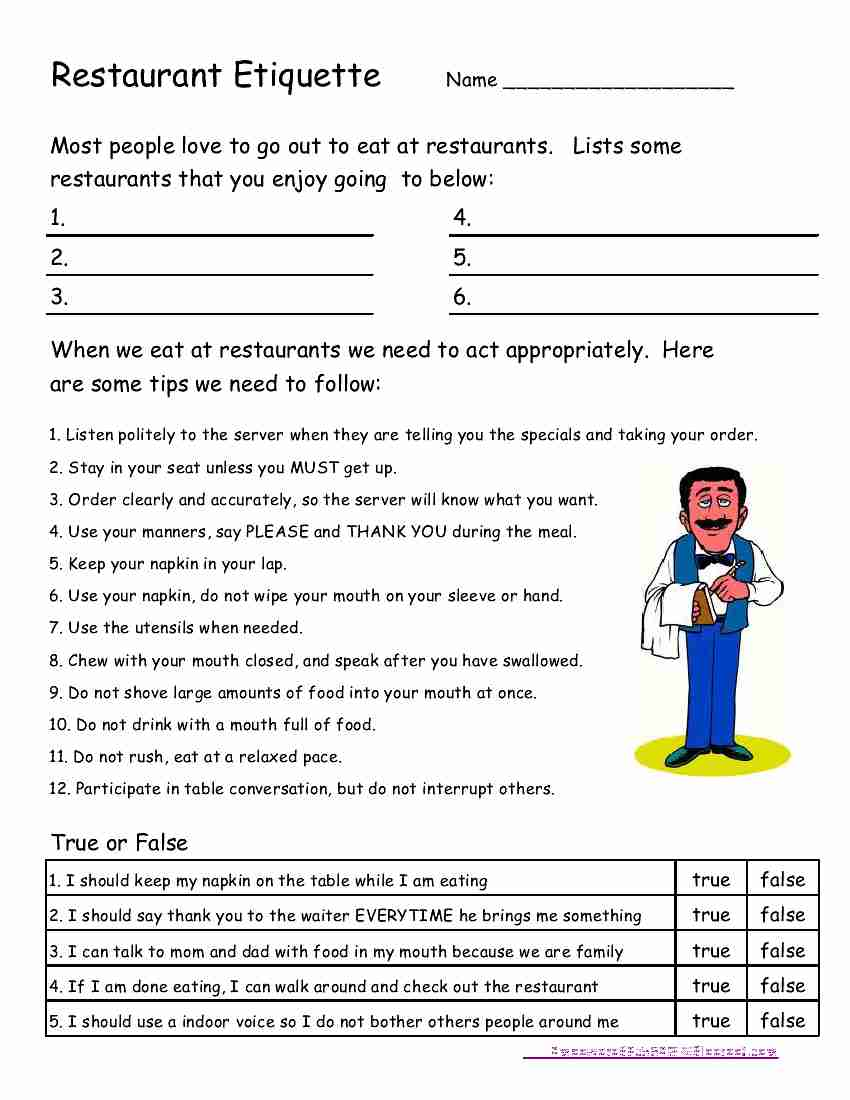 Life Skills Worksheets Images - Reverse Search