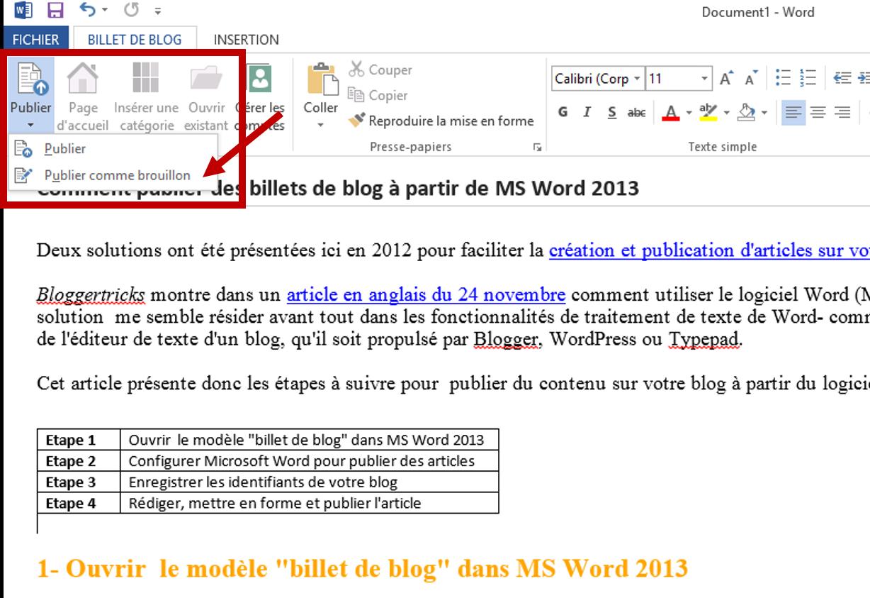 comment profiter des fonctionnalit u00e9s de ms word 2013 dans vos activit u00e9s de blogging