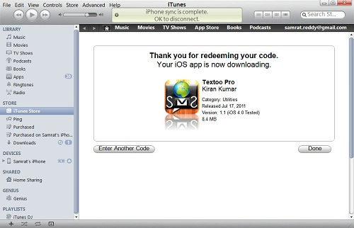 To redeem Free iTunes Redeem Codes in iTunes on your computer 03