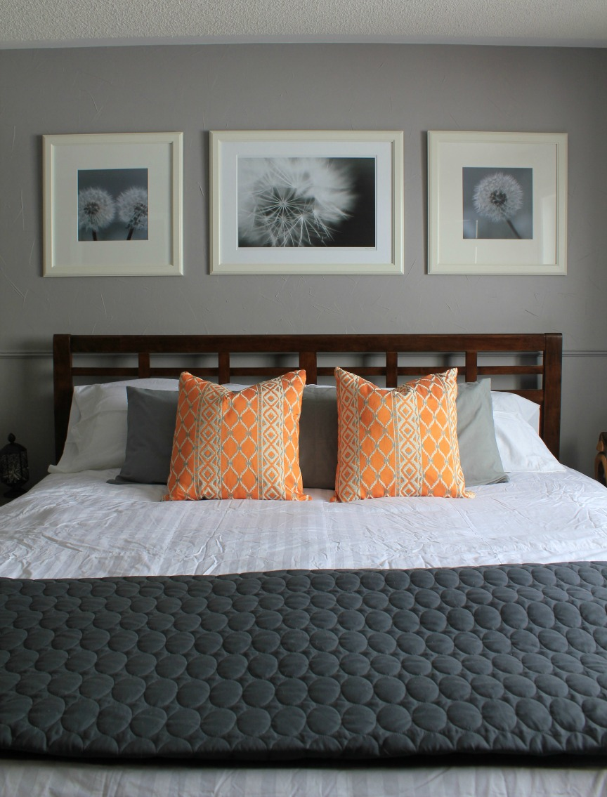 Orange And Grey Bedroom Turtles And Tails Master Bedroom Before And After