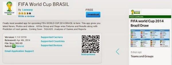 Jadwal Pertandingan Piala Dunia 2014 Brazil di Aplikasi BlackBerry