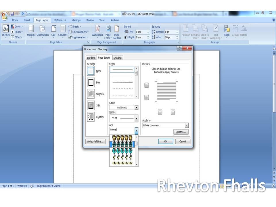 cara membuat bingkai di microsoft word 2007