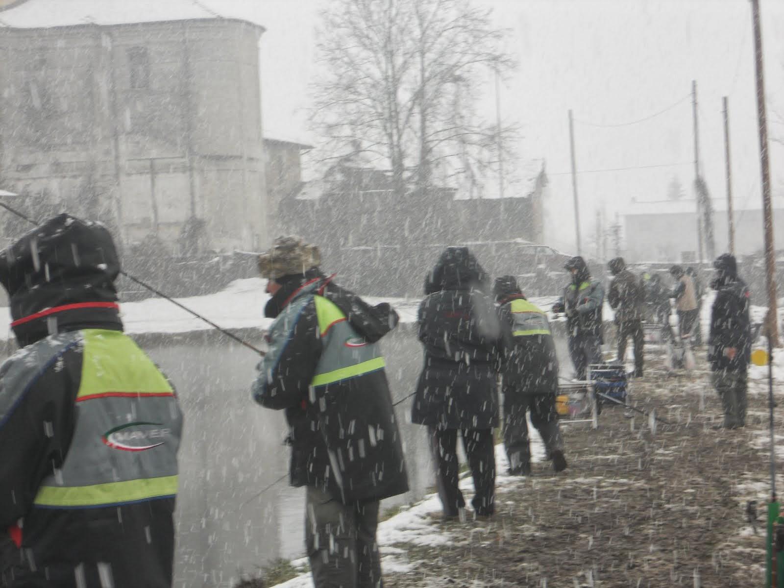 trote sotto la neve