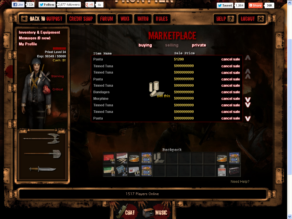 Dead frontier gambling den glitch