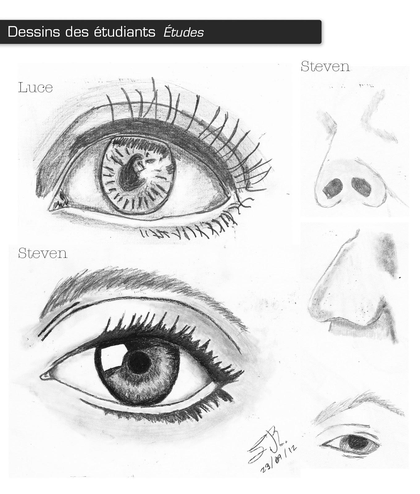 Extrem Le dessin - par Mélanie: Études pour le visage - Dessins des étudiants XW69