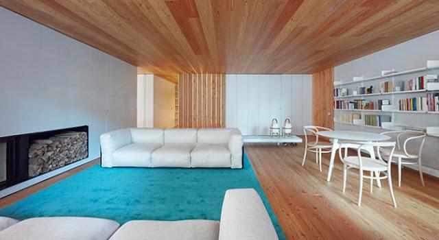 Casa cp la calidez del alerce espacios en madera - Marcos catalan ...