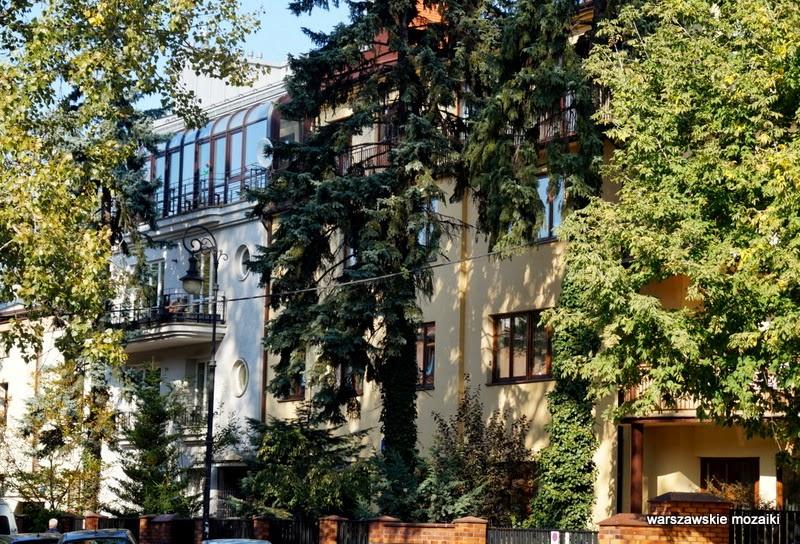 warszawskie mozaiki Saska Kępa Warszawa Praga Południe willa modernizm lata 30 lata 20 architektura