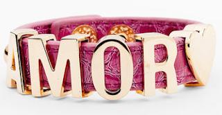 BCBGeneration 'Affirmation' Croc Embossed Bracelet Amor