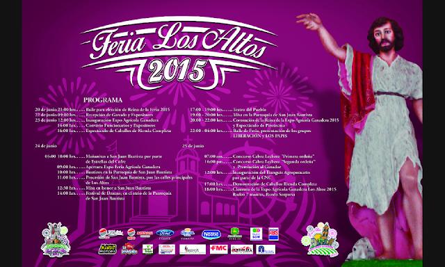 expo feria los altos 2015 programa