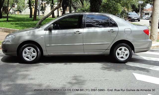 Toyota Corolla XLi Mecânico 2003 usado a venda - lateral