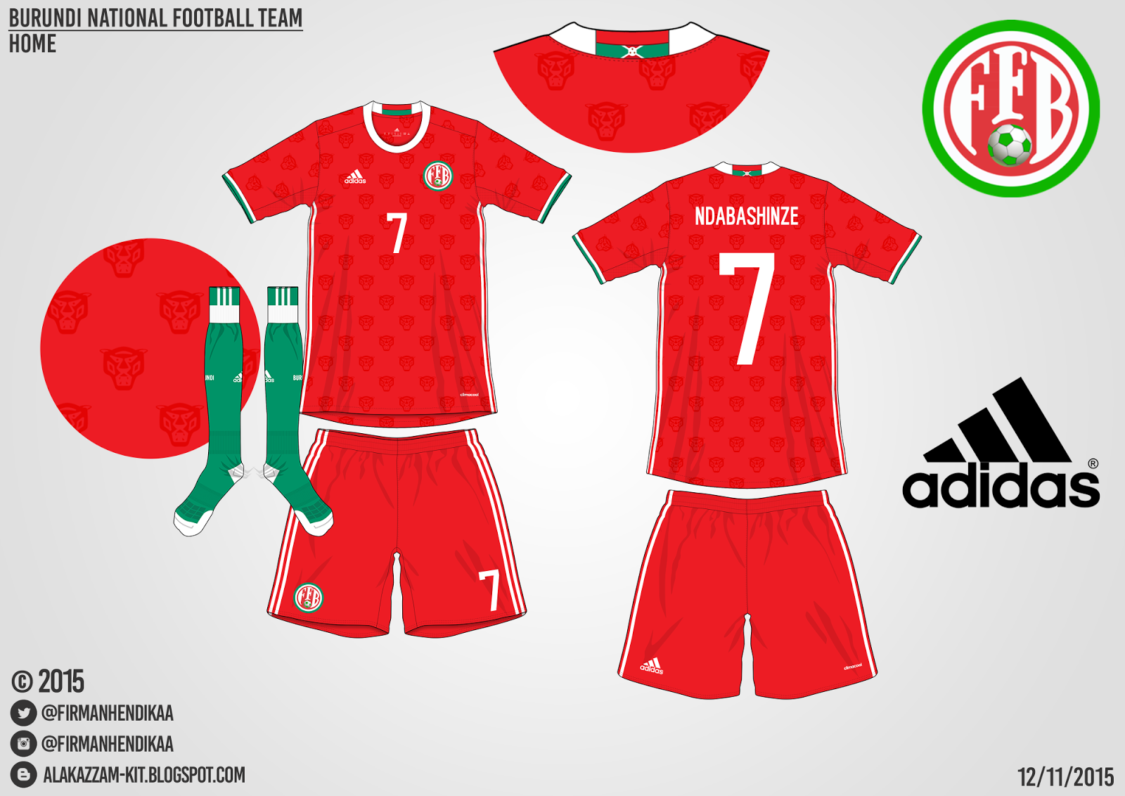 Burundi National Football Team Fantasy Home Kit (Adidas