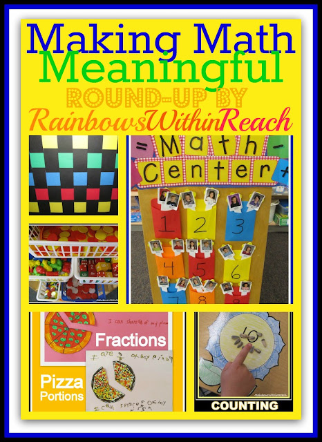 photo of: Making Math Meaningful (RoundUP of ideas via RainbowsWithinReach)