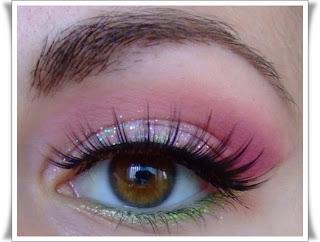 Machiaj roz pentru petreceri cu sclipici