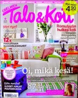 KUVIA MEIDÄN KODISTA:Unelmien Talo&Koti-lehdessä