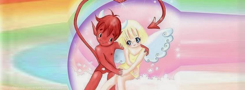 Couverture facebook ange et demon