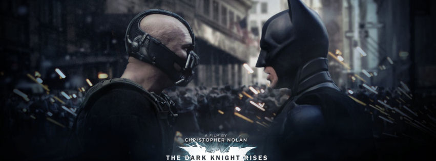 Bane and batman in the dark knight rises facebook cover