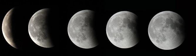 Sequència de l'eclipsi de Lluna. 15 de junio de 2011