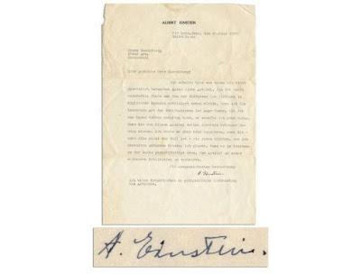 Surat Albert Einstein berkenaan Nazi akan dilelong di Amerika Syarikat