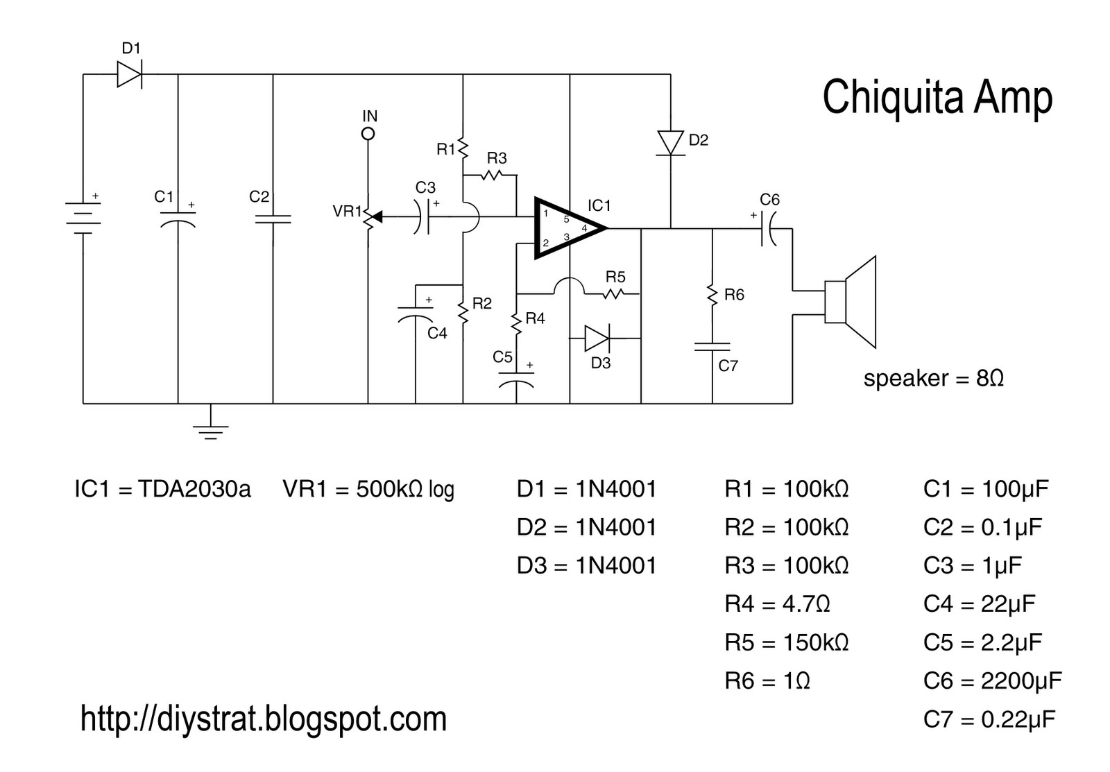 Easy Guitar Amp Schematic Wiring Diagrams Low Voltage Amplifier Circuit Using Tda7052 Eleccircuit Simple Tube Pre Get Free Image About Build Schematics