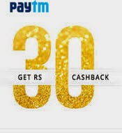 (Back) PayTM Rechare offer: Get Rs. 30 cashback on Rs.30