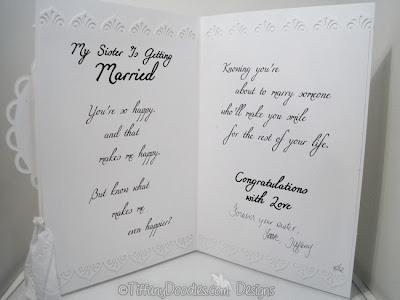 Wedding Bridal Card For My Sister Tiffany Doodles