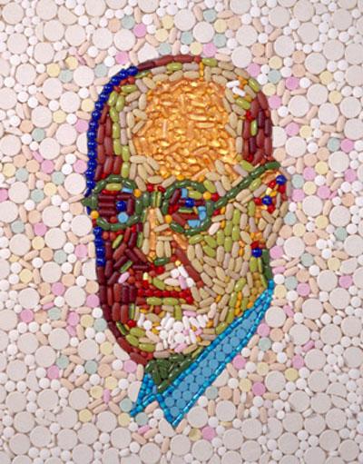 Doctor Ojiplático. Jason Mecier. Mosaicos de Famosos