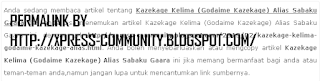 Permalink By http://xpress-community.blogspot.com/
