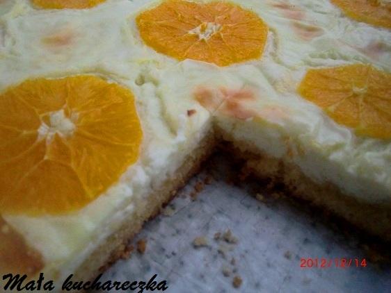 Placek serowy z pomarańczą