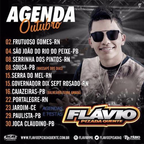 AGENDA DE SHOWS OUTUBRO FLÁVIO PIZADA QUENTE 2016