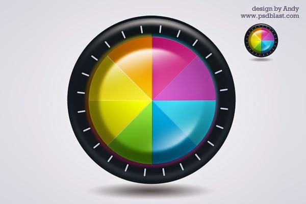 Color Wheel Icon PSD