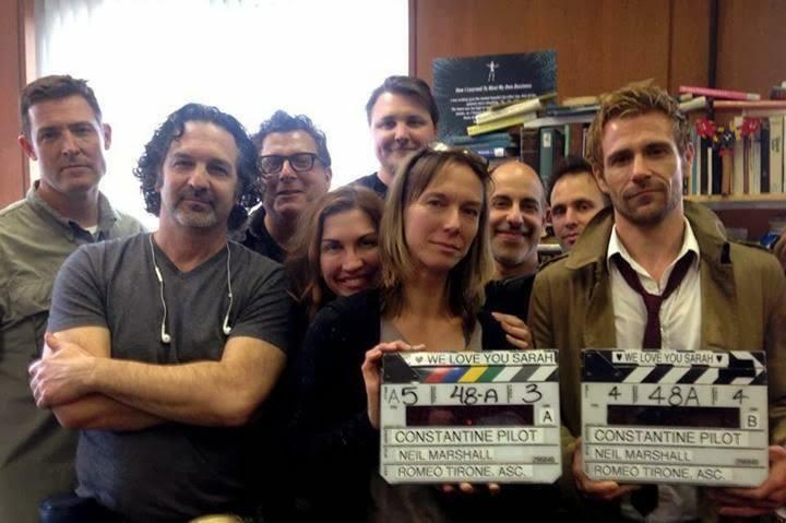 Primera foto del rodaje del piloto de Constantine, con Matt Ryan caracterizado