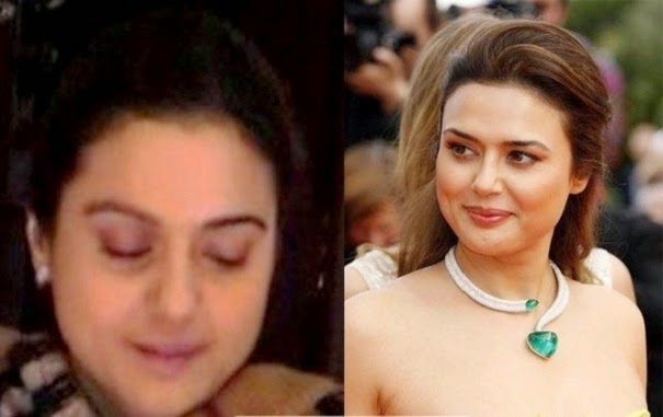 Prity jeenta without makeup photo-wallpapers