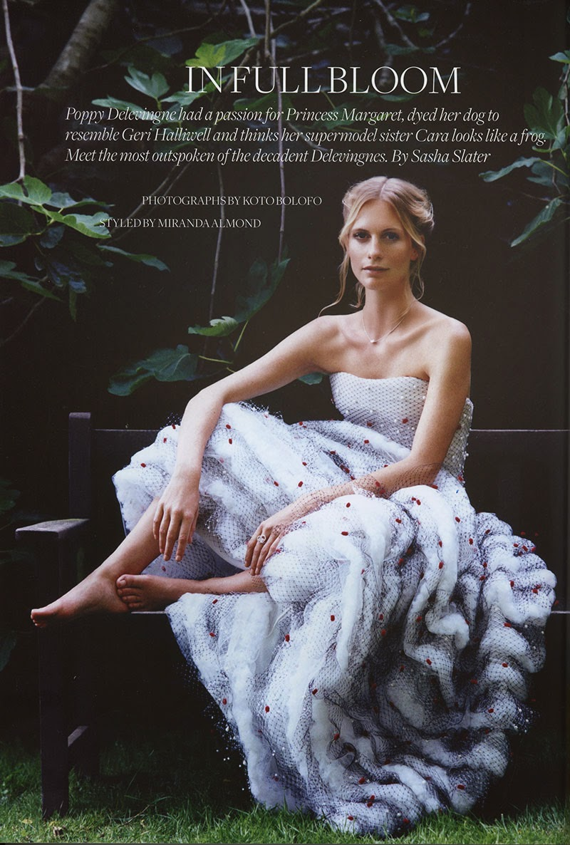 Poppy Delevingne by Koto Bolofo for Town & Country Winter 2014