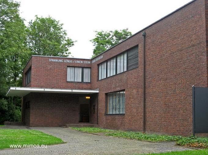 Extremo de una de las casas Lange y Esters en Alemania