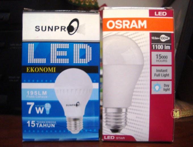 Emang Beda Ya Pancaran Cahaya Lampu LED Original dengan Kw