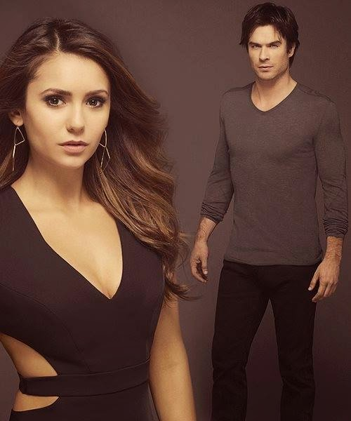 Sexy Elina Gilbert With Dashing Demon Salvator - Nina Dobrev - Ian Somerhalder