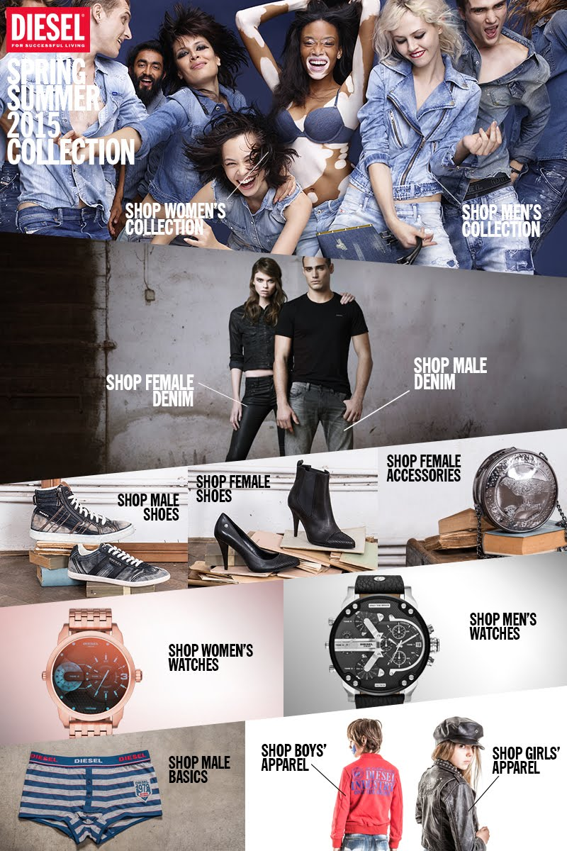 Shop online for Diesel jeans, clothing, shoes, and more with ease.