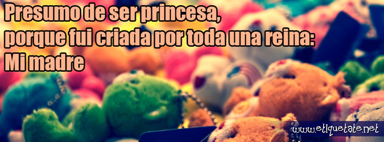 Fotos de portada para Facebook - Presumo ser Princesa