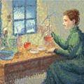 Marie Curie en un Doodle de Google
