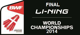Hasil Pertandingan Final BWF World Championships 2014