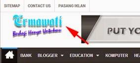 Cara Memasang Logo Blog