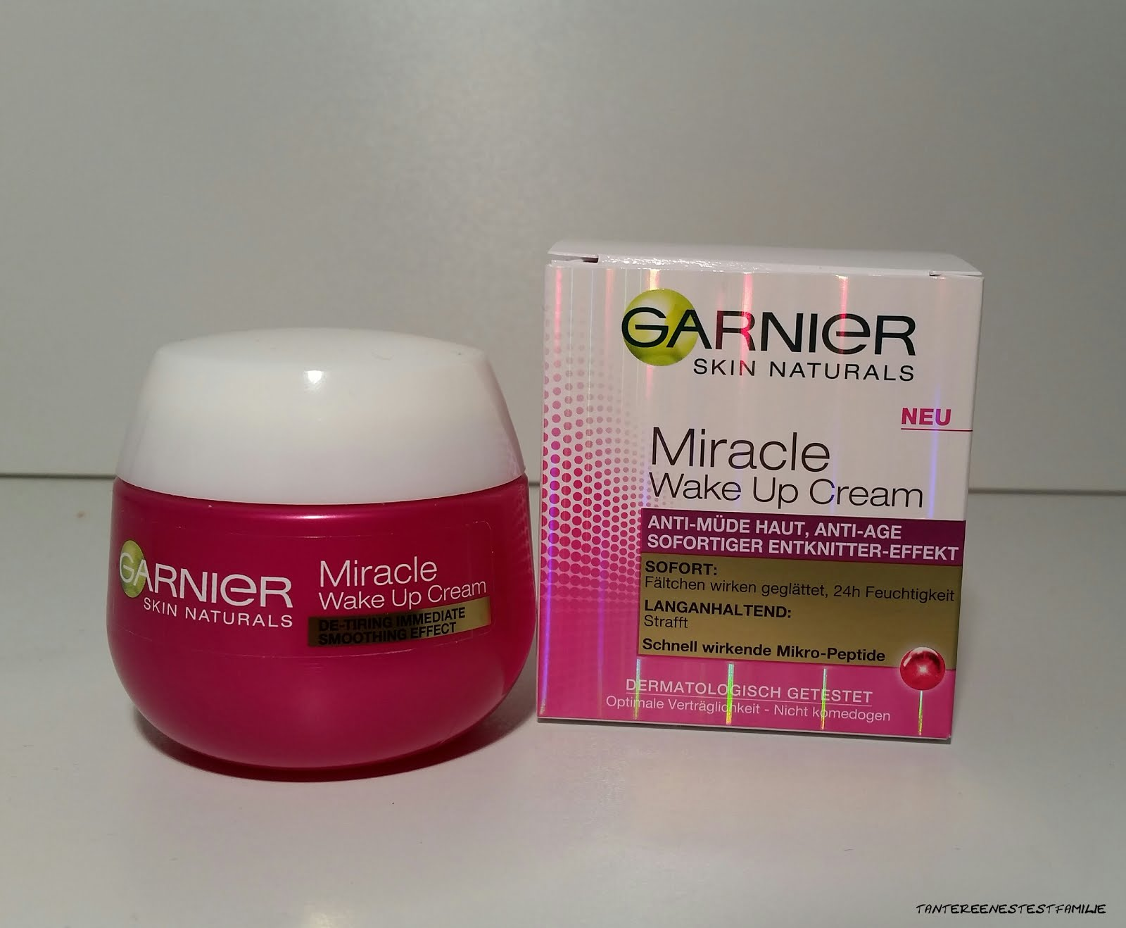 Garnier Miracle Wake Up Cream Tante Reenes Testfamilie