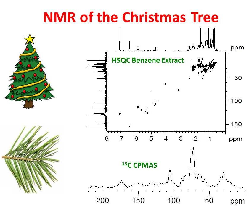 Christmas Tree Mixture Part - 46: The Spectrum Is Free Of Cellulose Resonances And Shows A Mixture Of  Fragrant Compounds.