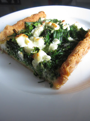 Broccoli Goat Cheese Tart