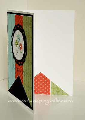 Use patterned paper inside greeting cards
